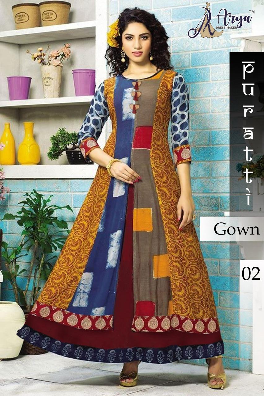 Designer Gown Kurtis Print