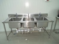 Three Bowl KItchen Sink