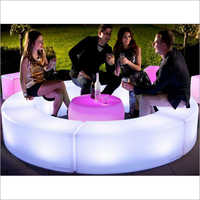 LED Glowing Round Bench