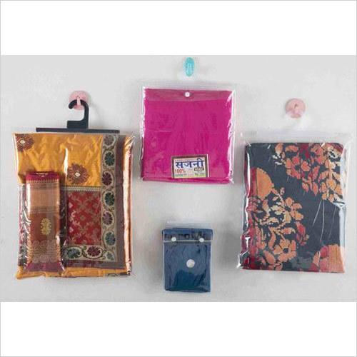 PVC pouch with Button & fix hanger