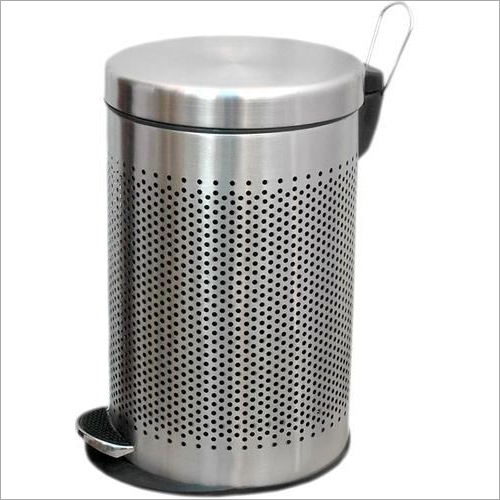 Round Perforated Stainless Steel Pedal Bin