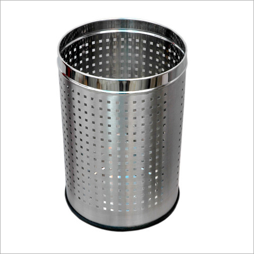 Square Perforated Stainless Steel Bin
