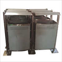 Stainless Steel Outdoor Bin With Top Cover