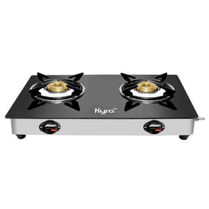 Two Burner Toughned Glass Gas Stove