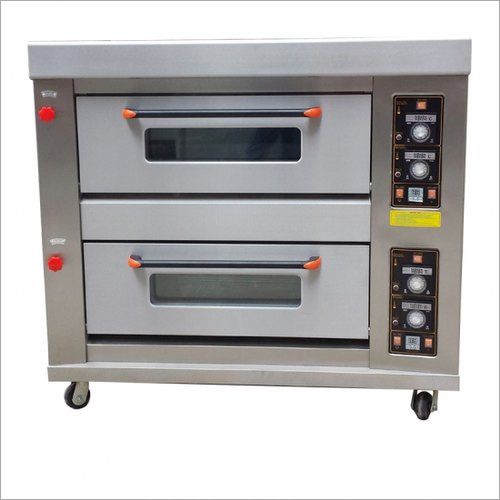 Stainless Steel 2 Deck Gas Bakery Oven
