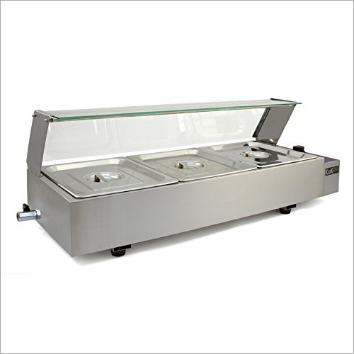 Commercial Bain Marie With Glass Canopy