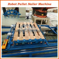 Robot Nailing and Stacking System for Stringer and Blocks Pallets