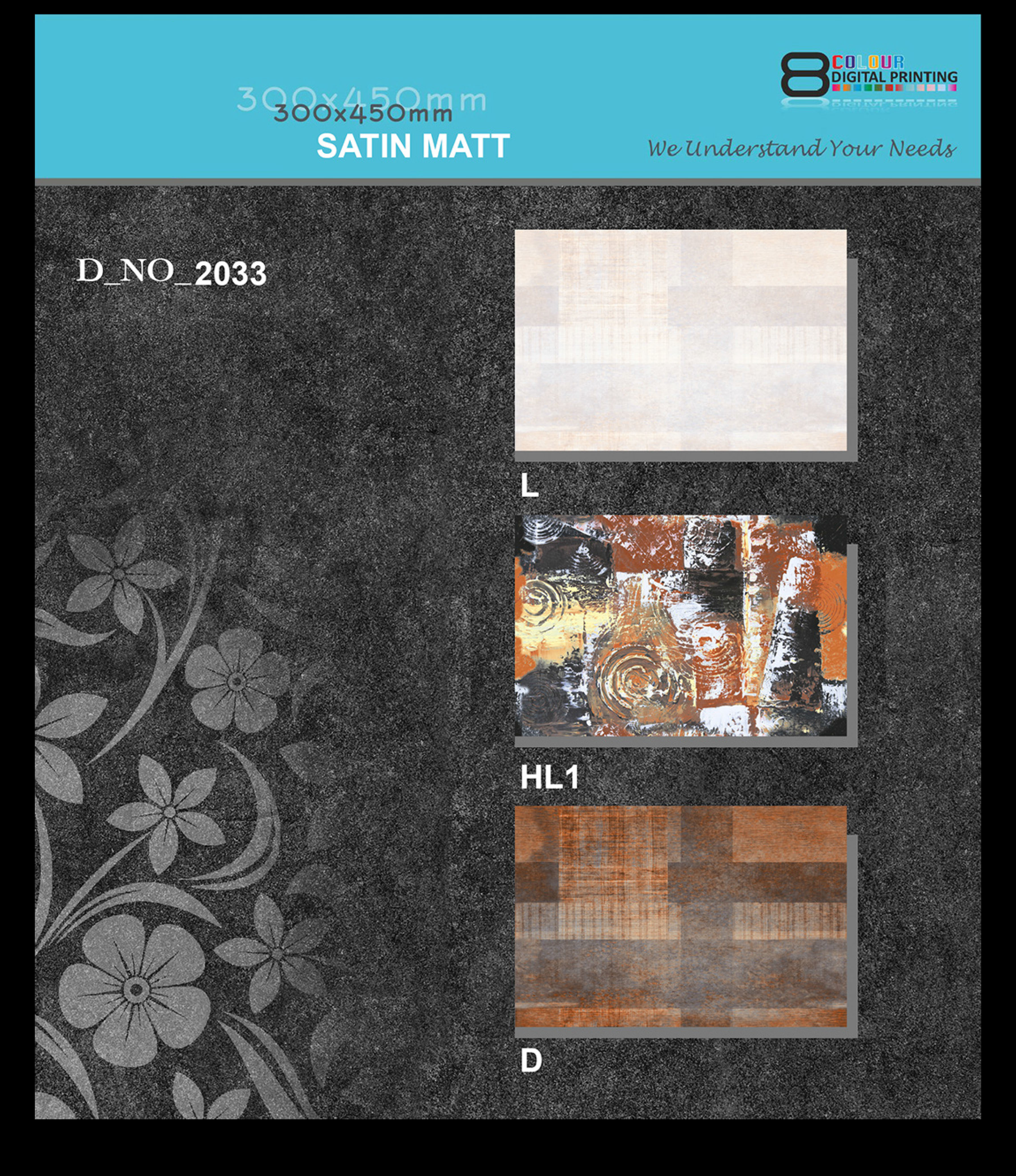 Matt Ceramic Wall Tiles 300x450 MM