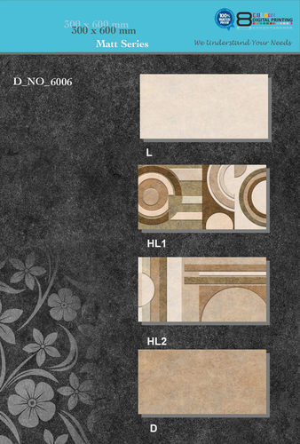 Matt Ceramic Wall Tiles 300x600 MM