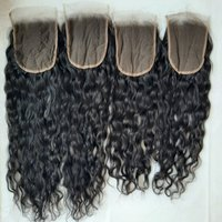 Raw Natural Curly HD swiss Lace transparent Closure 4x4