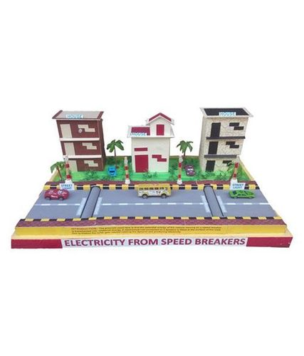 Electricity generation from speed breakers working model labcare