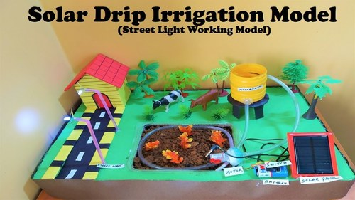 solar energy (house with light and water pump irrigation) working model product