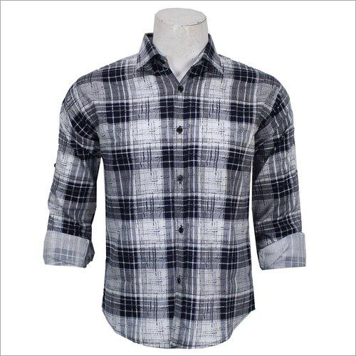 Mens Full Sleeve Check Shirts