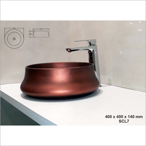 400 x 400 x 140 mm Round Art Basin