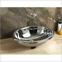 420 x 420 x 200 mm Oval Shape Ceramic Round Wash Basin