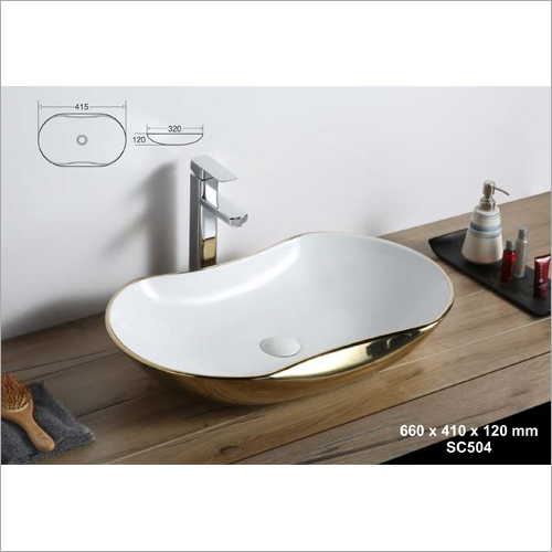 660 x 410 x 120 mm Ceramic Art Wash Basin