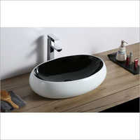 600 x 400 x  135 mm Oval Shape Ceramic Art Wash Basin