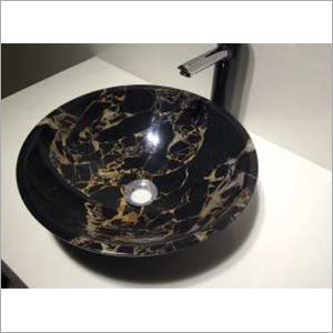 430 x 430 x 135 mm Natural Stone Round Wash Basin