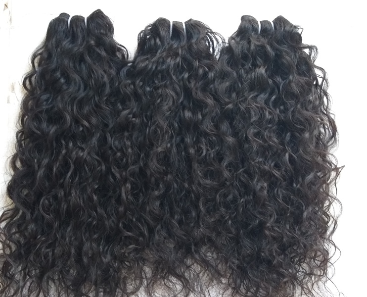 Raw Vintage Temple Donated Unprocessed Curly Hair
