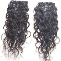 Raw Natural Wavy Clip in Hair Extensions