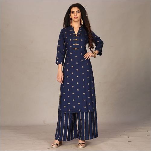 Ladies Kurti With Palazzo Suit
