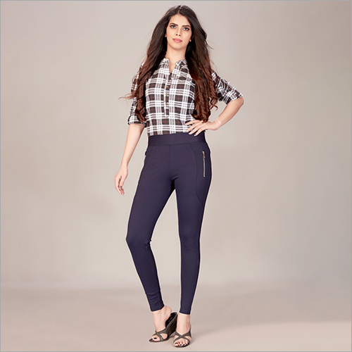 Ladies Fashionable Blue Jegging