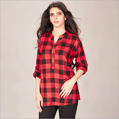 Ladies Fancy Check Shirt