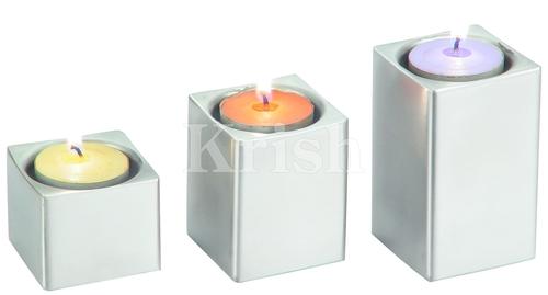 Pillar Style Tea Lite Holder - square