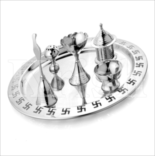 Supreme Pooja Thali set- 6 Pcs