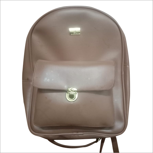 Ladies Leather Backpack Bag