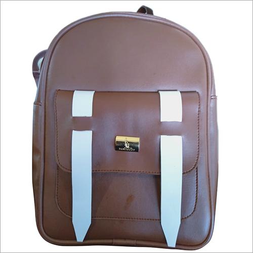 School Leather Backpack Bag