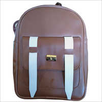School Leather Backpack Bag