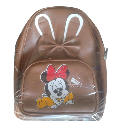 Kids Leather Backpack Bag