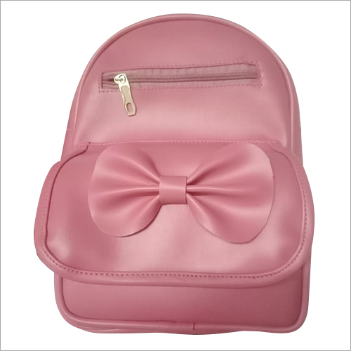 Girls Leather Backpack Bag