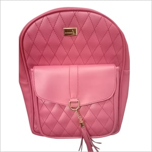 Collage Leather Backpack Bag