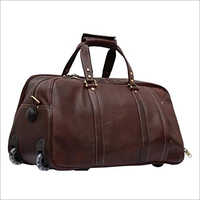 Plain Leather Luggage Bag