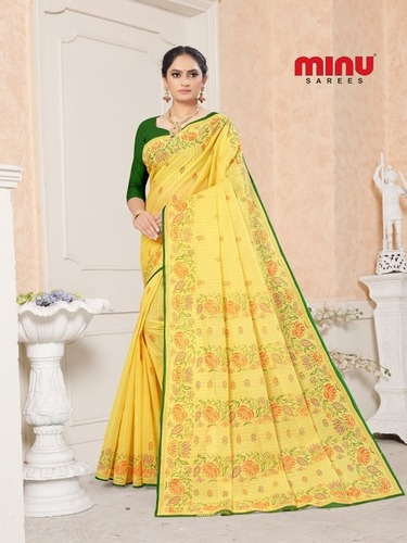 Minu Fagun Cotton Pigment Designer Saree