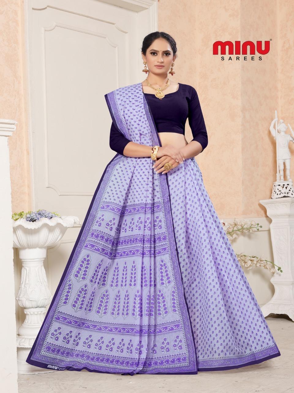 Minu Fagun Cotton Pigment Designer Saree