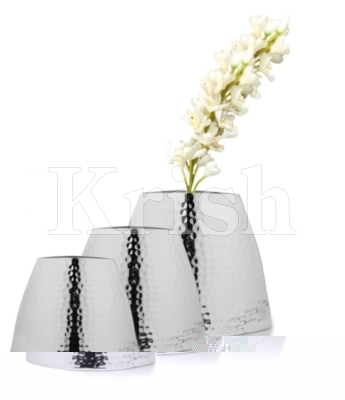 Bulb Shape Flower Vase - Hammered