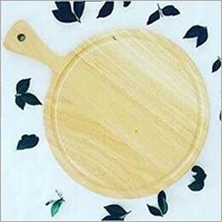 Round Wooden Pizza Platter