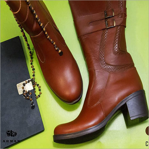 Ladies Natural Brown Leather Boots