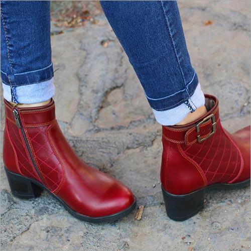 Ladies Leather Half Boot
