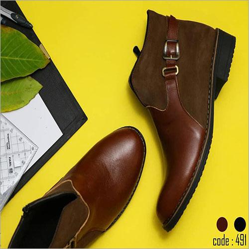 Ladies Fancy Leather Half Boot