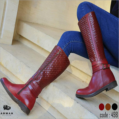 Ladies Pure Leather High Boots