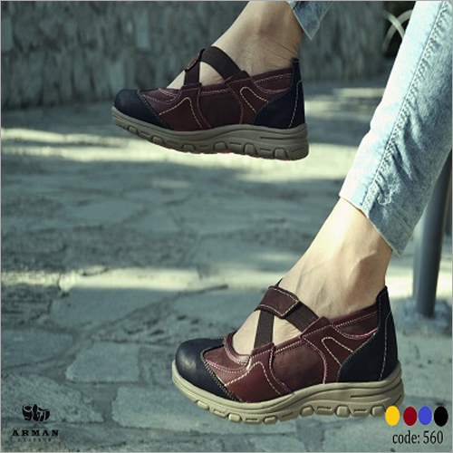 Ladies Leather Summer Shoes