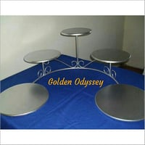 Metallic Cake Display Stand