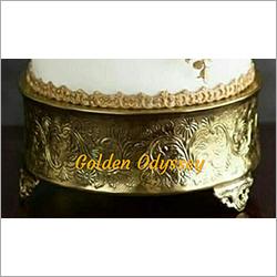 Round Golden Cake Stand