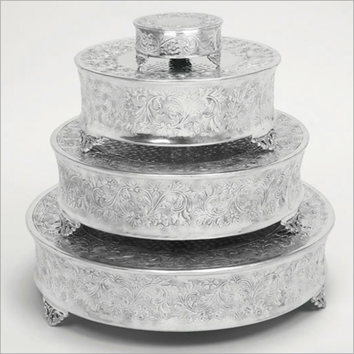 Aluminium Embossed  Wedding Cake Stand