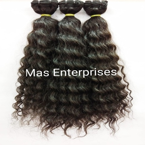Natural Curly Single Donor Human Hair Bundle