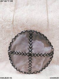 Handmade suede leather sling bag